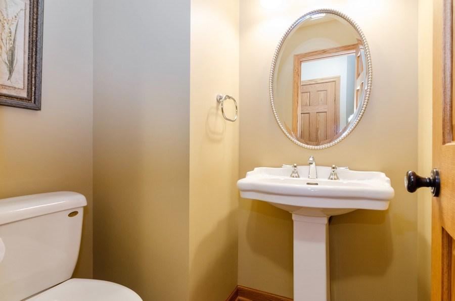 Real Estate Photography - 1210 Alexandra Boulevard, Crystal Lake, IL, 60014 - Powder Room