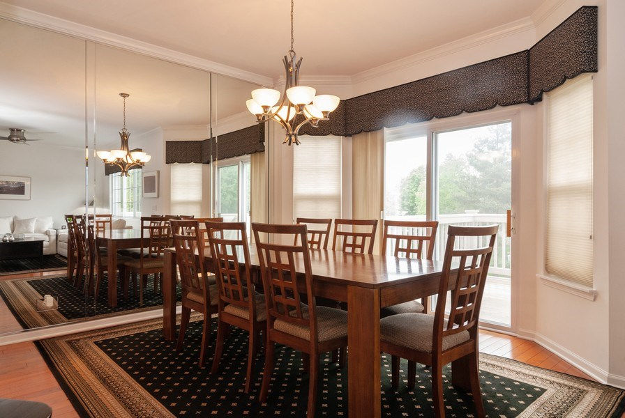 Real Estate Photography - 1236 Townes Circle, Aurora, IL, 60502 - Dining Room