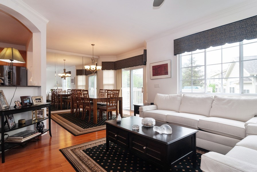 Real Estate Photography - 1236 Townes Circle, Aurora, IL, 60502 - Living Room / Dining Room