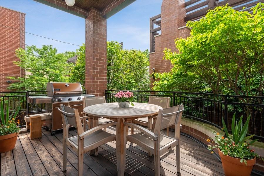Real Estate Photography - 1660 N. Oakley Avenue, Chicago, IL, 60647 - Loggia for Al Fresco Dining