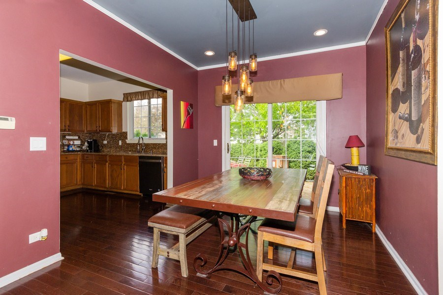 Real Estate Photography - 2109 Vermette Circle, Plainfield, IL, 60586 - Dining Room