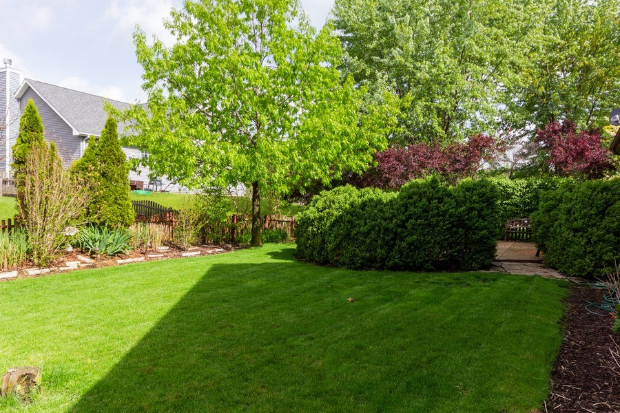 Real Estate Photography - 2109 Vermette Circle, Plainfield, IL, 60586 - Back Yard