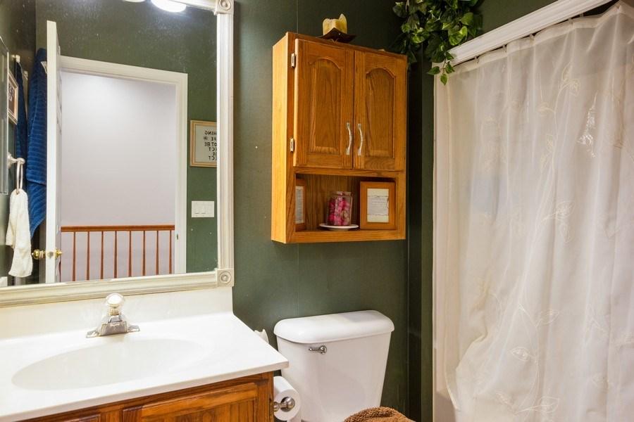 Real Estate Photography - 2109 Vermette Circle, Plainfield, IL, 60586 - 2nd Full Bathroom