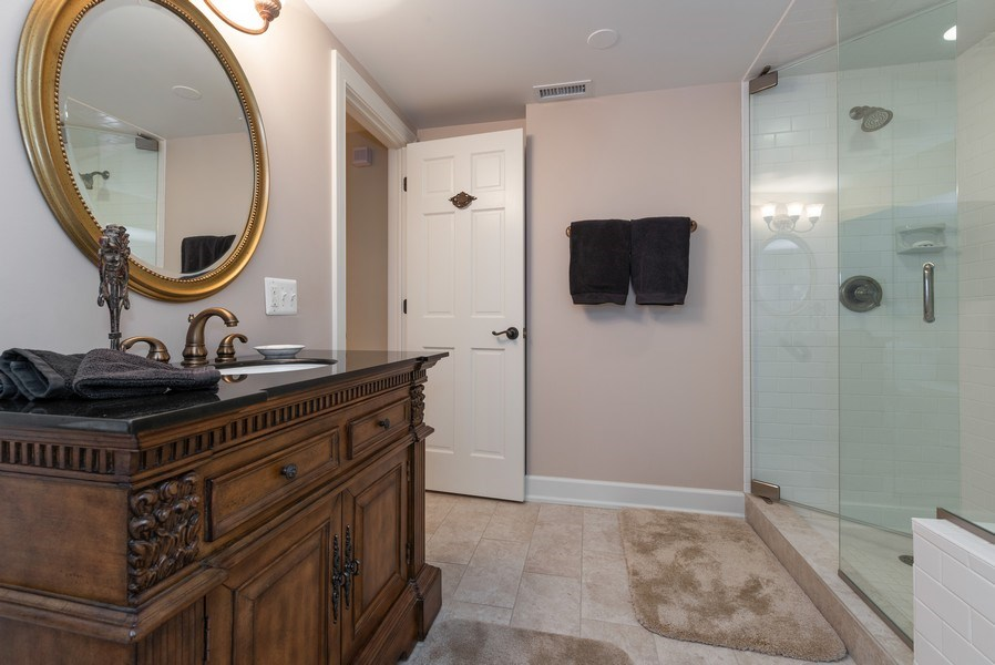 Real Estate Photography - 20400 Windflower Court, Mundelein, IL, 60060 - 3rd Bathroom