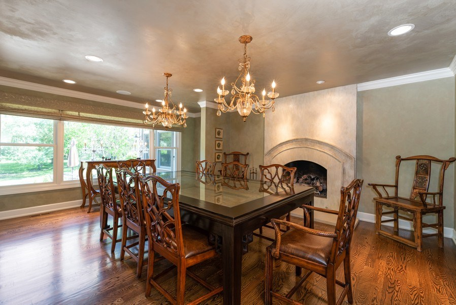 Real Estate Photography - 20400 Windflower Court, Mundelein, IL, 60060 - Dining Room