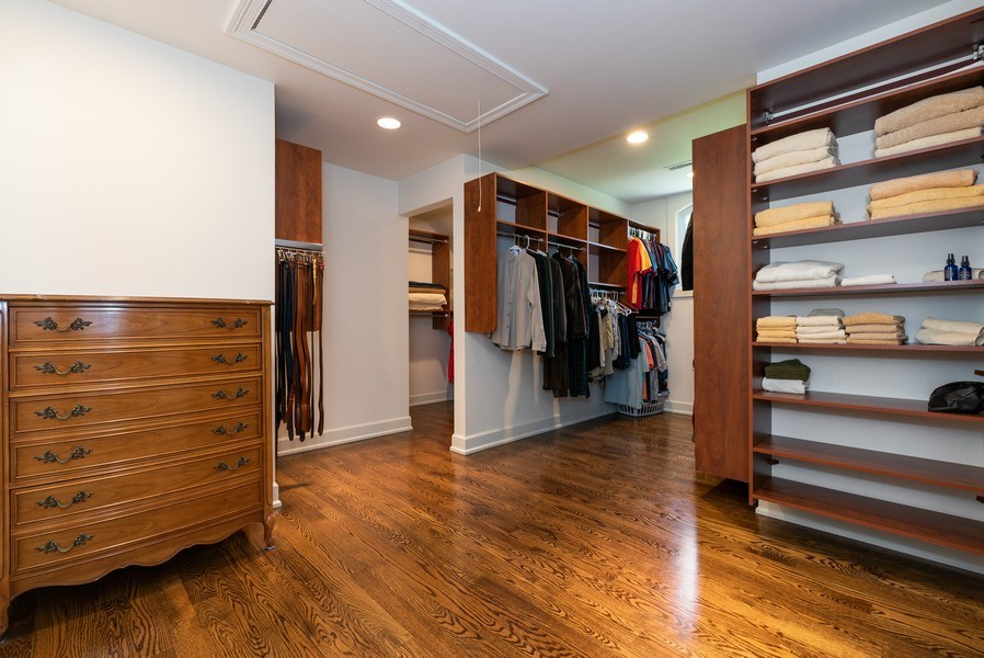 Real Estate Photography - 20400 Windflower Court, Mundelein, IL, 60060 - Master Bedroom Closet