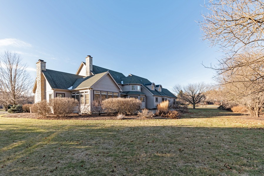 Real Estate Photography - 20400 Windflower Court, Mundelein, IL, 60060 - Rear View