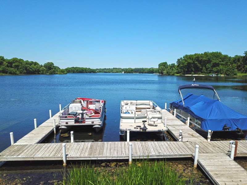 Real Estate Photography - 20400 Windflower Court, Mundelein, IL, 60060 - Boat Launch / Private Lake
