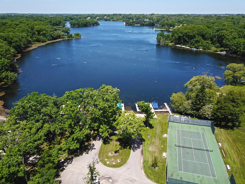 Real Estate Photography - 20400 Windflower Court, Mundelein, IL, 60060 - Private Lake & Tennis Court