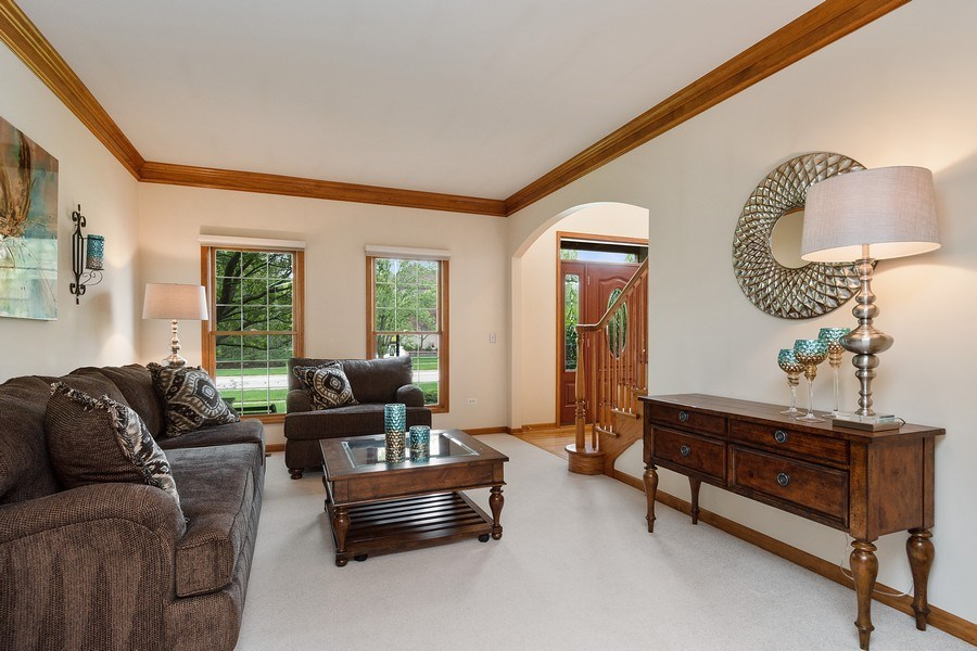 Real Estate Photography - 5520 Bergamot Lane, Naperville, IL, 60564 - Living Room