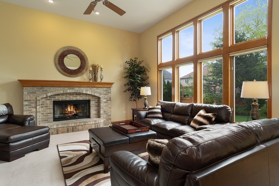 Real Estate Photography - 5520 Bergamot Lane, Naperville, IL, 60564 - Family Room