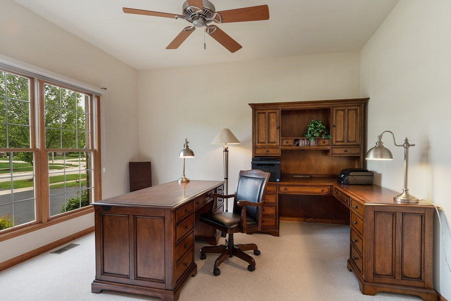 Real Estate Photography - 5520 Bergamot Lane, Naperville, IL, 60564 - First Floor Office