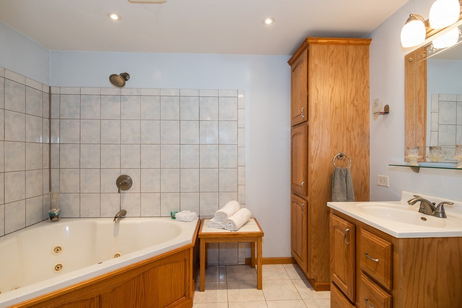 Real Estate Photography - 5N327 Martingale Drive, Bartlett, IL, 60103 - Master Bathroom