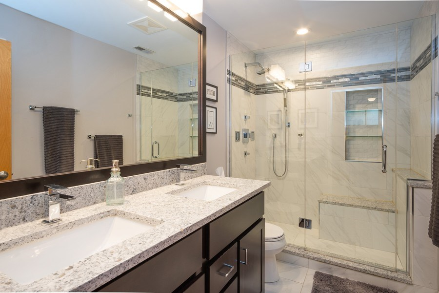 Real Estate Photography - 2201 West Wabansia Ave, 6, Chicago, IL, 60647 - Master Bathroom