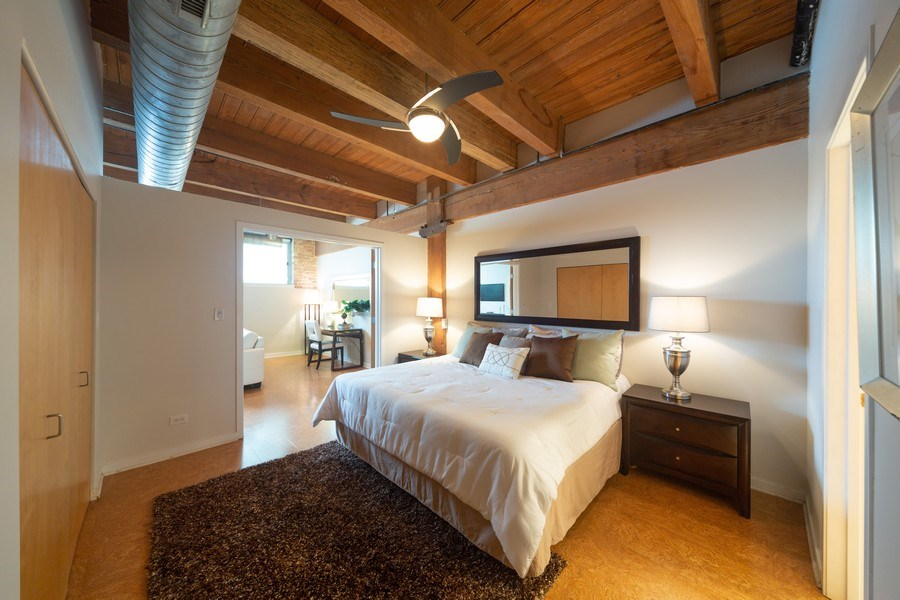 Real Estate Photography - 2201 West Wabansia Ave, 6, Chicago, IL, 60647 - Master Bedroom