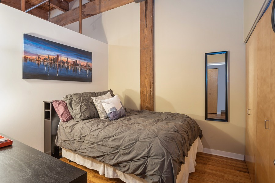 Real Estate Photography - 2201 West Wabansia Ave, 6, Chicago, IL, 60647 - Bedroom