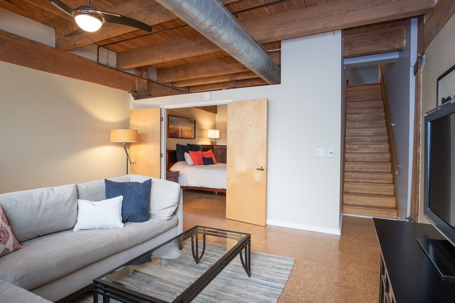 Real Estate Photography - 2201 West Wabansia Ave, 6, Chicago, IL, 60647 - Family Room