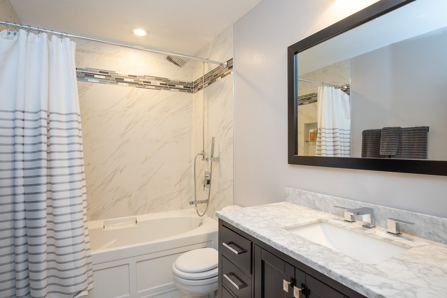 Real Estate Photography - 2201 West Wabansia Ave, 6, Chicago, IL, 60647 - Bathroom