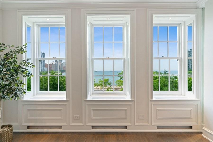 Real Estate Photography - 219 E. LAKE SHORE Drive, Unit 5D, Chicago, IL, 60611 - Living Room