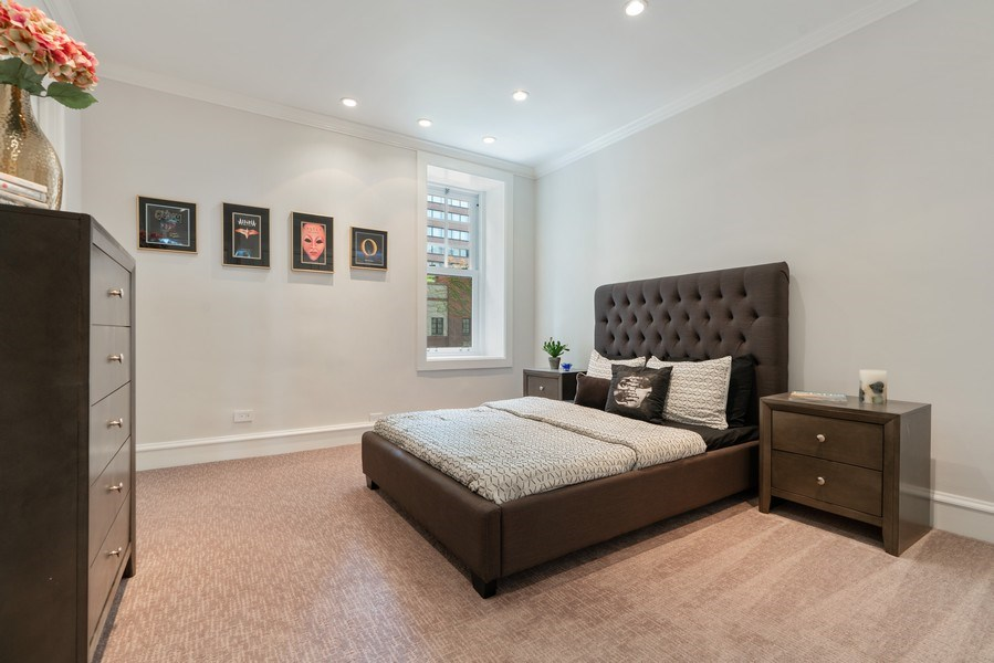 Real Estate Photography - 219 E. LAKE SHORE Drive, Unit 5D, Chicago, IL, 60611 - 2nd Bedroom