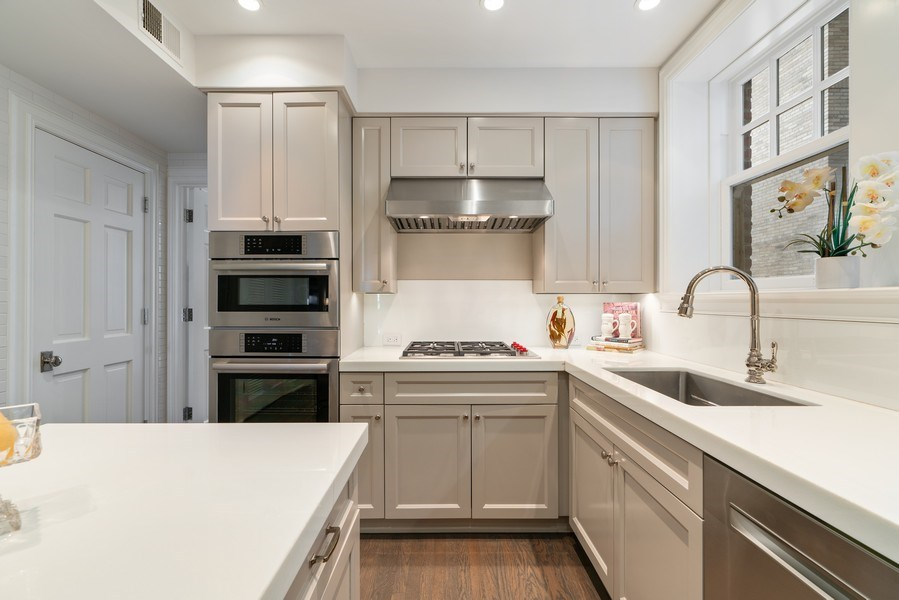 Real Estate Photography - 219 E. LAKE SHORE Drive, Unit 5D, Chicago, IL, 60611 - Kitchen