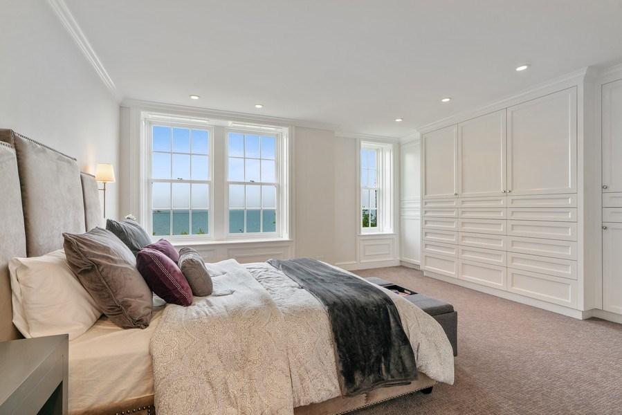 Real Estate Photography - 219 E. LAKE SHORE Drive, Unit 5D, Chicago, IL, 60611 - Master Bedroom