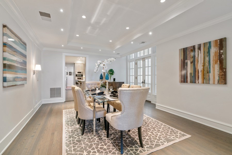 Real Estate Photography - 219 E. LAKE SHORE Drive, Unit 5D, Chicago, IL, 60611 - Dining Room