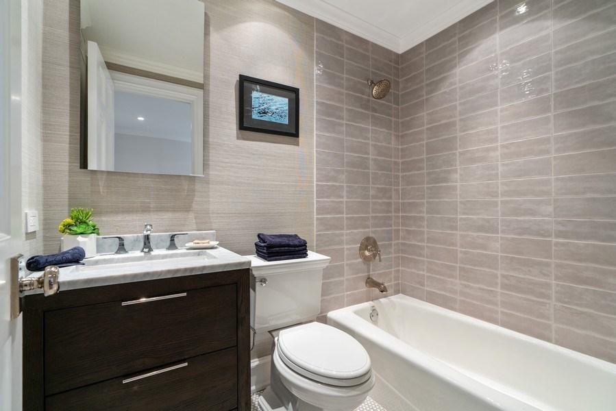 Real Estate Photography - 219 E. LAKE SHORE Drive, Unit 5D, Chicago, IL, 60611 - 2nd Bathroom