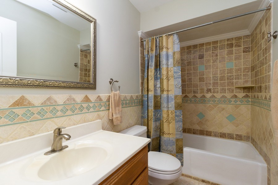 Real Estate Photography - 8438 Hollywood Drive, Orland Park, IL, 60462 - 2nd Bathroom
