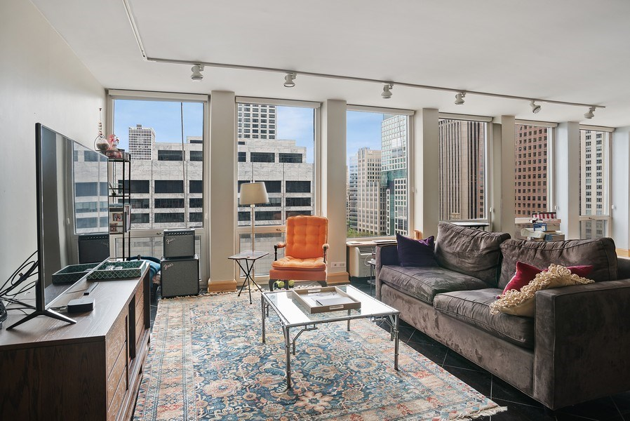 Real Estate Photography - 111 E. Chestnut Street, Unit 17C, Chicago, IL, 60611 - Living Room
