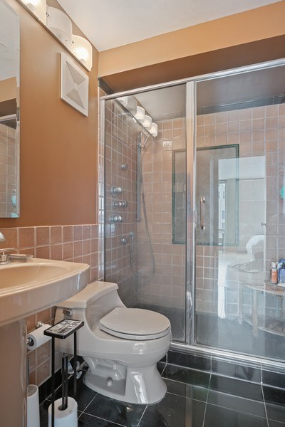 Real Estate Photography - 111 E. Chestnut Street, Unit 17C, Chicago, IL, 60611 - Master Bathroom