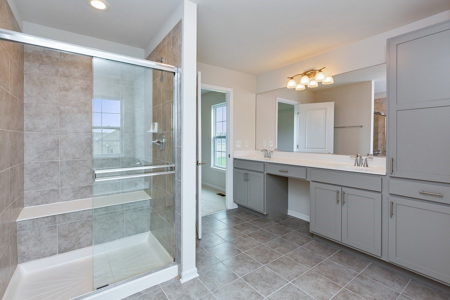 Real Estate Photography - 1588 Fairfield Drive, Elburn, IL, 60119 - Master Bathroom