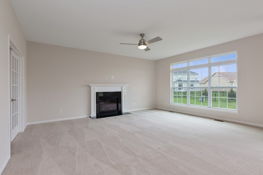 Real Estate Photography - 1588 Fairfield Drive, Elburn, IL, 60119 - Family Room