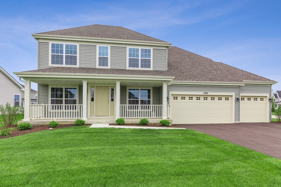 Real Estate Photography - 1588 Fairfield Drive, Elburn, IL, 60119 - Front View
