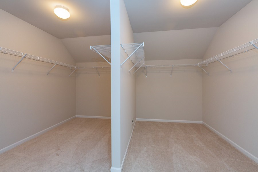 Real Estate Photography - 1588 Fairfield Drive, Elburn, IL, 60119 - Master Bedroom Closet
