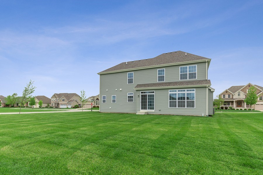 Real Estate Photography - 1588 Fairfield Drive, Elburn, IL, 60119 - Rear View