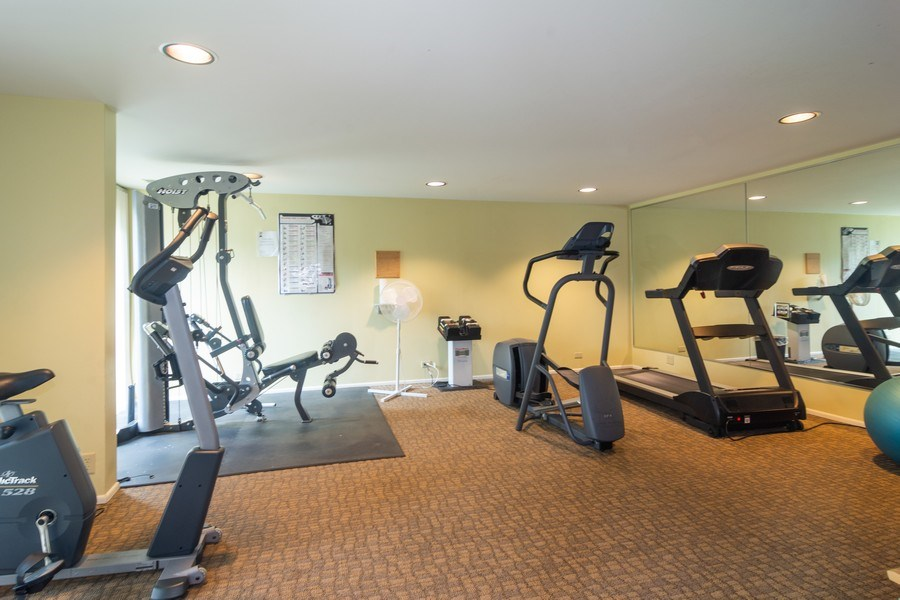 Real Estate Photography - 446 Lageschulte Street, Unit 1-446, Barrington, IL, 60010 - Exercise Room