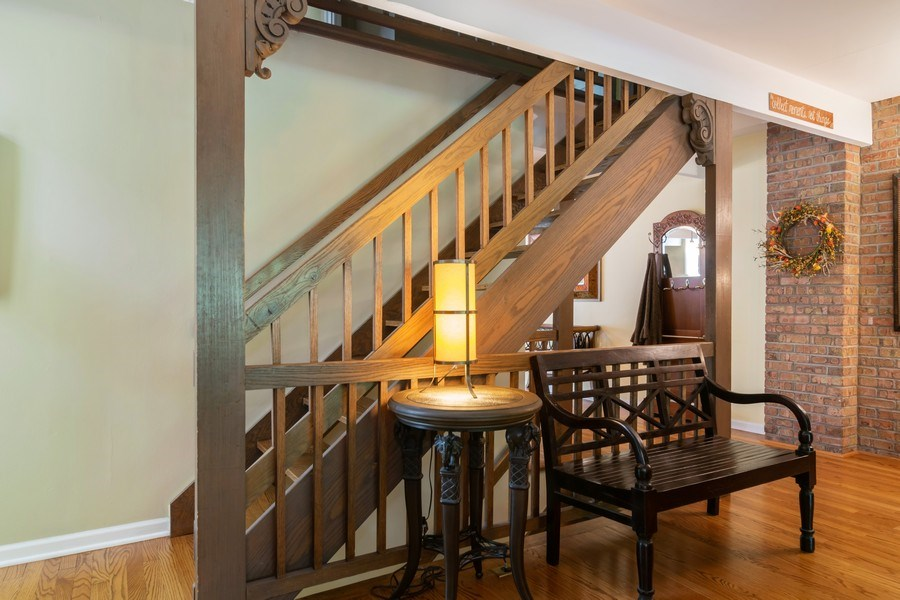 Real Estate Photography - 446 Lageschulte Street, Unit 1-446, Barrington, IL, 60010 - Staircase