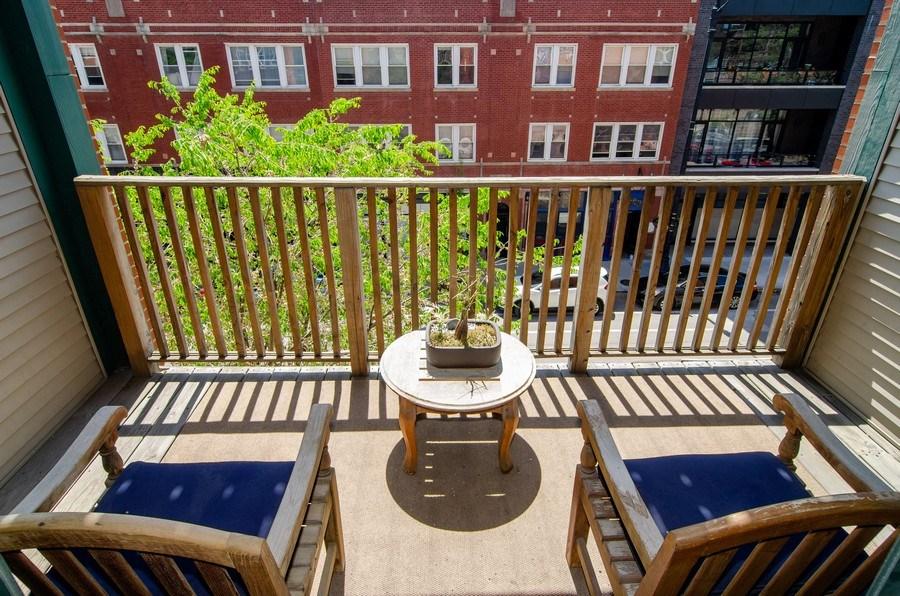 Real Estate Photography - 845 W. Altgeld Street, Unit 3B, Chicago, IL, 60614 - Balcony
