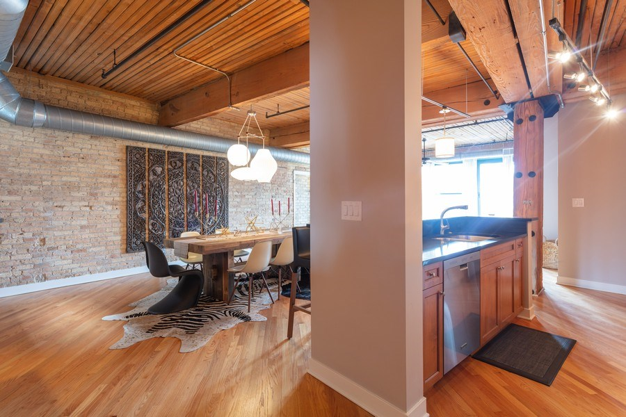 Real Estate Photography - 411 W. ONTARIO Street, Unit 608, Chicago, IL, 60654 - Kitchen/Dining Area