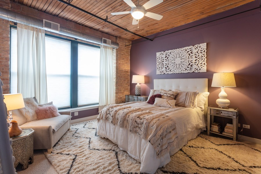 Real Estate Photography - 411 W. ONTARIO Street, Unit 608, Chicago, IL, 60654 - Master Bedroom
