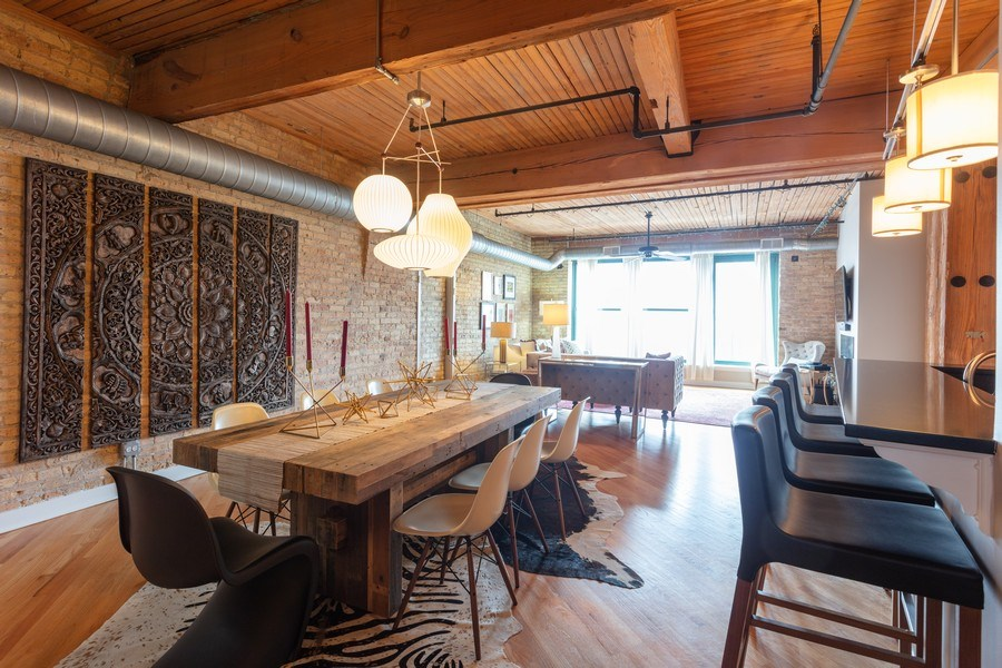 Real Estate Photography - 411 W. ONTARIO Street, Unit 608, Chicago, IL, 60654 - Dining Area