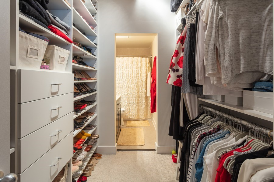 Real Estate Photography - 411 W. ONTARIO Street, Unit 608, Chicago, IL, 60654 - Master Bedroom Closet