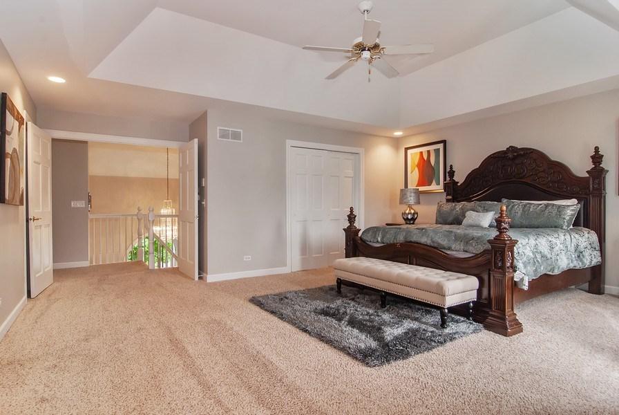 Real Estate Photography - 2324 Sutton Lane, Aurora, IL, 60502 - Master Bedroom