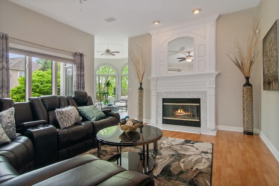 Real Estate Photography - 2324 Sutton Lane, Aurora, IL, 60502 - Family Room