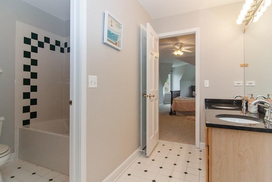 Real Estate Photography - 2324 Sutton Lane, Aurora, IL, 60502 - 2nd Bathroom
