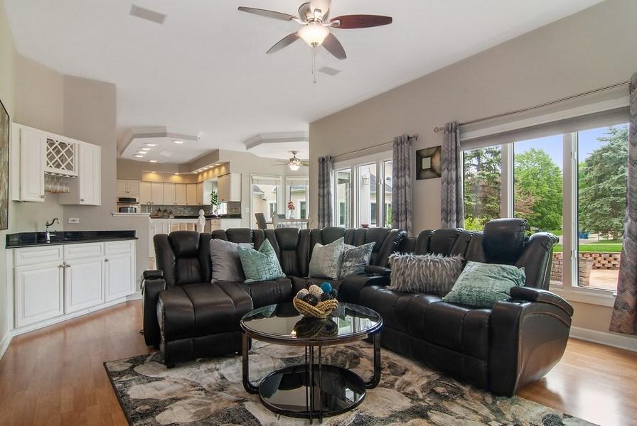 Real Estate Photography - 2324 Sutton Lane, Aurora, IL, 60502 - Family Room / Kitchen
