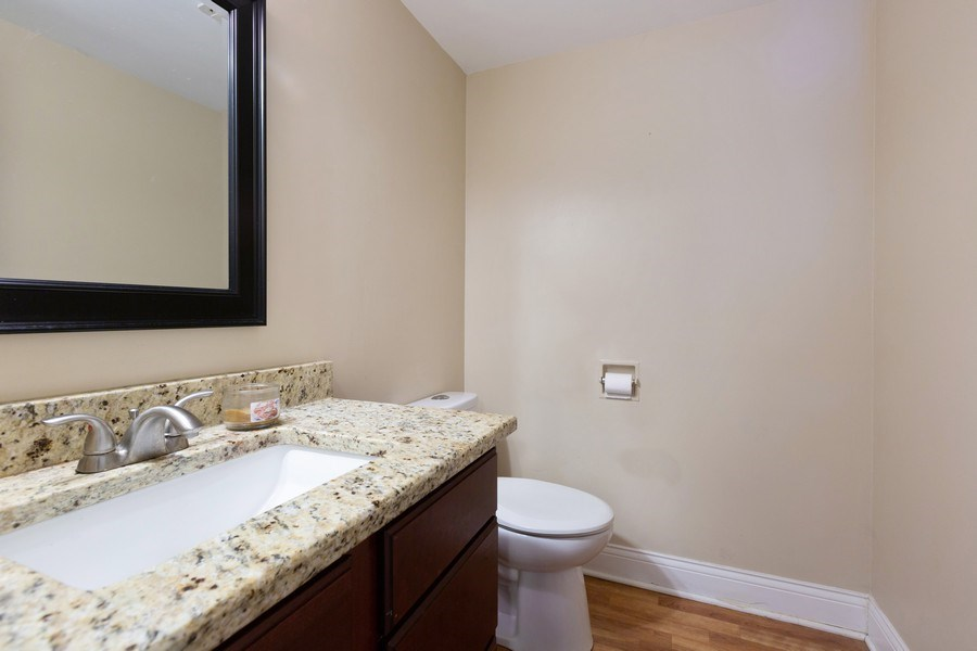 Real Estate Photography - 550 Woodmar Lane, Crystal Lake, IL, 60012 - Powder Room