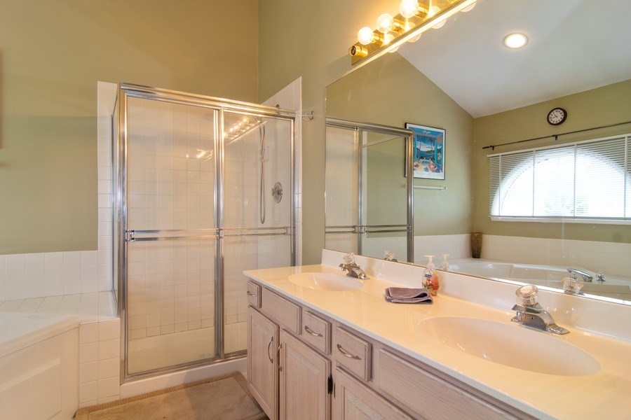 Real Estate Photography - 1432 Steeplechase Road, Bartlett, IL, 60103 - Master Bathroom