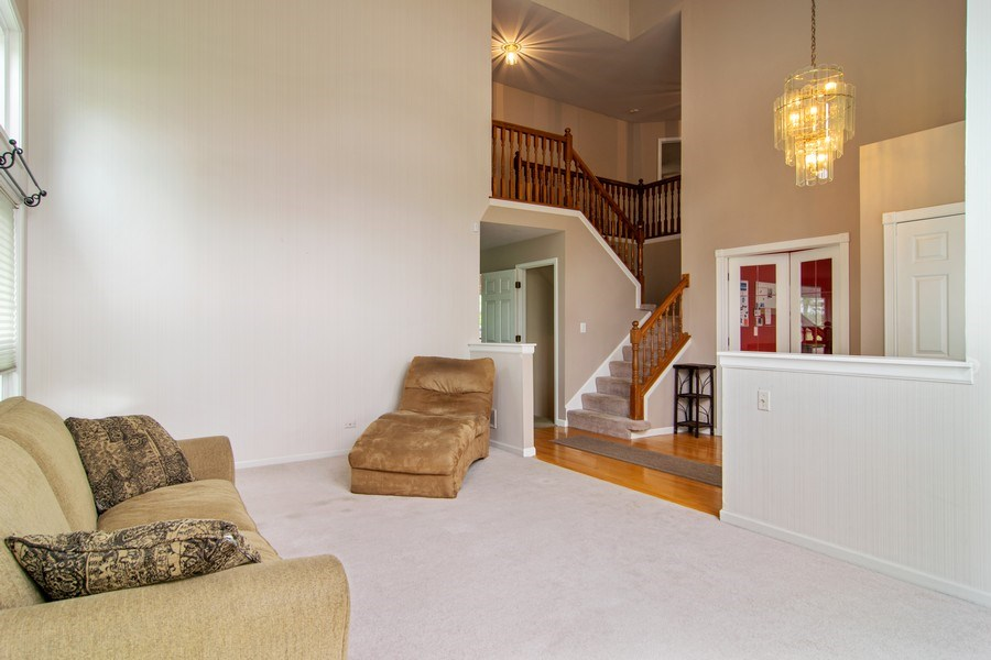 Real Estate Photography - 1432 Steeplechase Road, Bartlett, IL, 60103 - Living Room